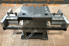 Complete set of casting mould, ready for castingn production