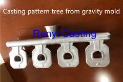 Casting pattern tree from gravity mold