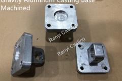 Gravity Aluminum Casting Base Machined
