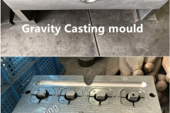 Gravity casting mould, tooling
