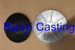 Clamp plate casting with Rubber molded
