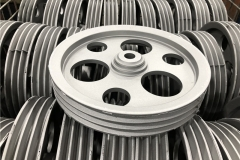 Raw die casting of aluminum pulley