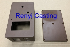 die casting box,lid with brown powder coating paint