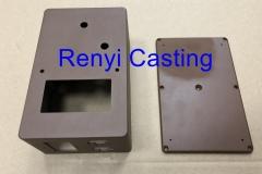 die casting box,lid with brown powder coating paint