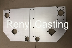 CNC machined long plate size 630X350mm