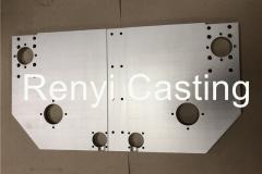 CNC machined long plate size 630X350mm