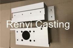 Machined aluminum block