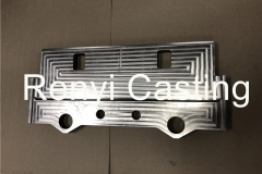 Stainless steel machined large push plate