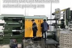 750Tons die cast machine automatic pouring arm