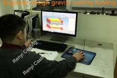 Engineer design gravity casting tooling