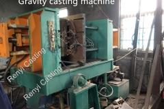 Gravity casting machine