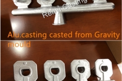 Alu. Casting casted out from gravity mould