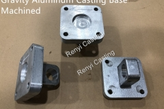 Gravity Aluminum Casting Base Machined