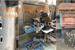 Step 11 Strip off Shell, Grinding casting mouth, shot blasting casting