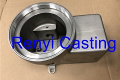Stainless outdoor LED light housing casting