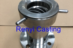 Stainless steel mirror polished meat grinder machine Body & ring
