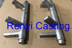 pivot shaft investment casting 460mm long