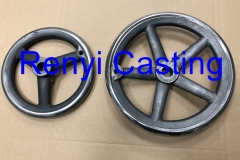 Ductile iron casting hand wheel with polish