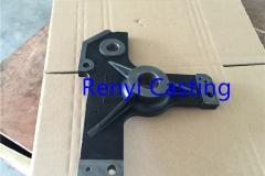 Ductile iron casting with Black paint finish