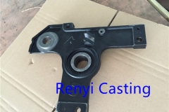 Ductile iron casting with Black paint finish