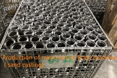 Meat mincer body production machined