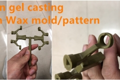 Silicon gel casting green wax mold