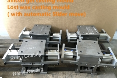 Silicon gel casting mould with automatic slider move