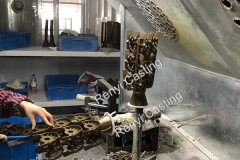 Step 3 Welding wax mold as tree