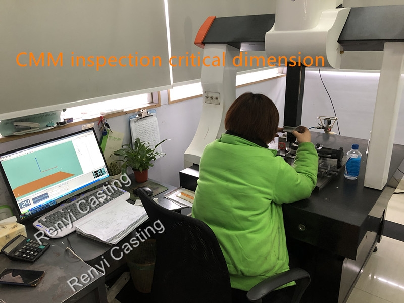 CMM inspection critical dimension