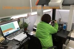 CMM inspection critical dimension