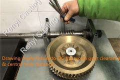 Drawing made fixture to QC the worm gear clearance & central hole distance