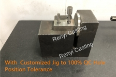 With  Customized Jig to 100% QC Hole Position Tolerance