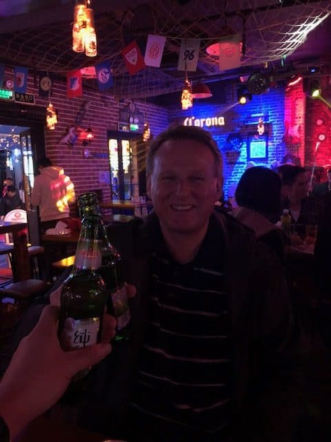 "After the dinner, we drunk a dozen of Tsingtao beer and the Singer in the Pub specially song an English classic song  ""Hotel California "" to our friend, AG, what a wonderful night!"